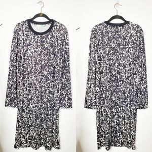 Tory Burch Printed Long Sleeve Silk Dress.